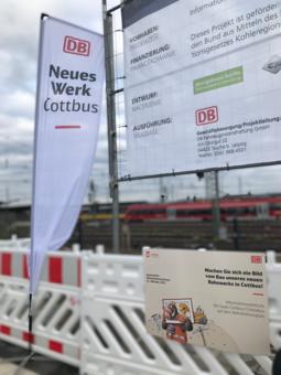 Spatenstich Infozentrum der Stadt Cottbus/Chóśebuz