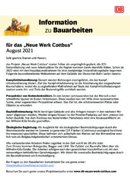 Anwohnerinformation August 2021